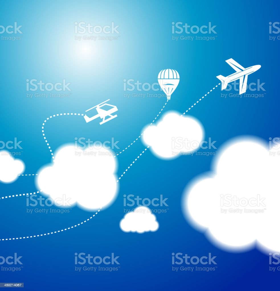 Vector sky with clouds royalty-free stock vector art