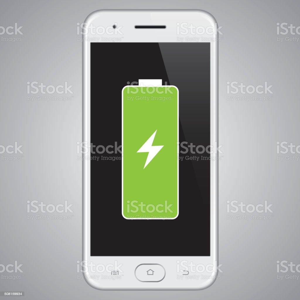 Vector smartphone Full Battery. stock photo
