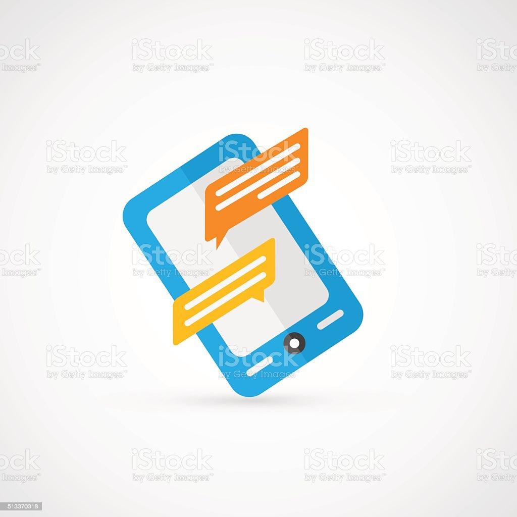 Vector Smartphone Message. vector art illustration
