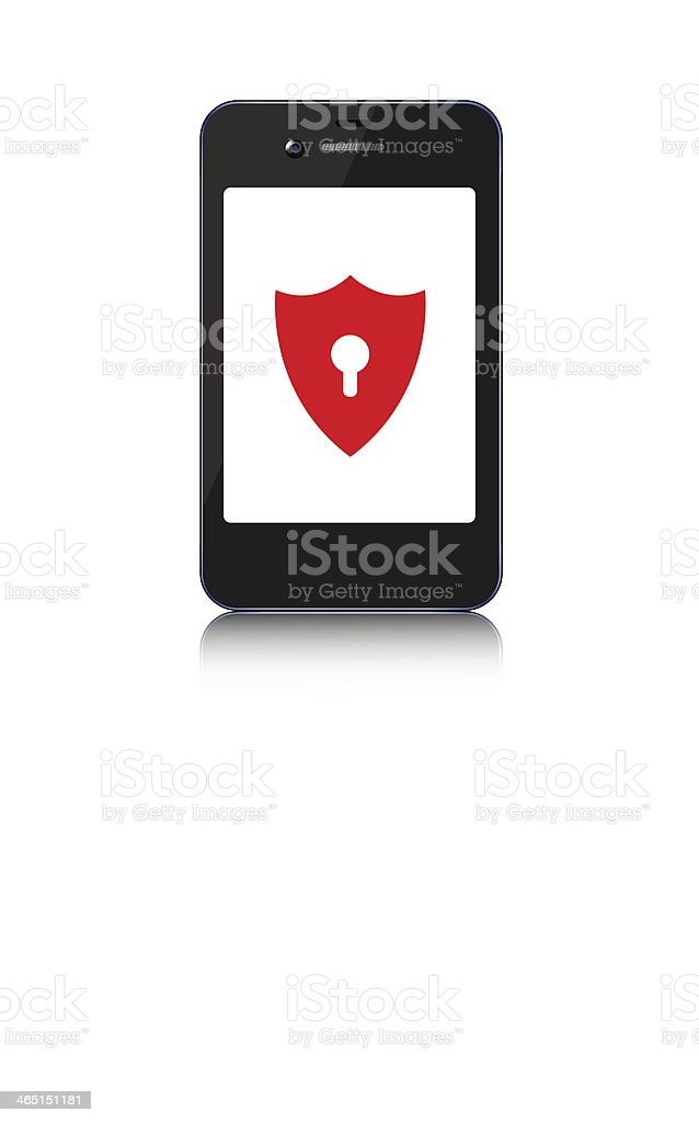 Vector smartphone on white background. Eps10 royalty-free stock vector art