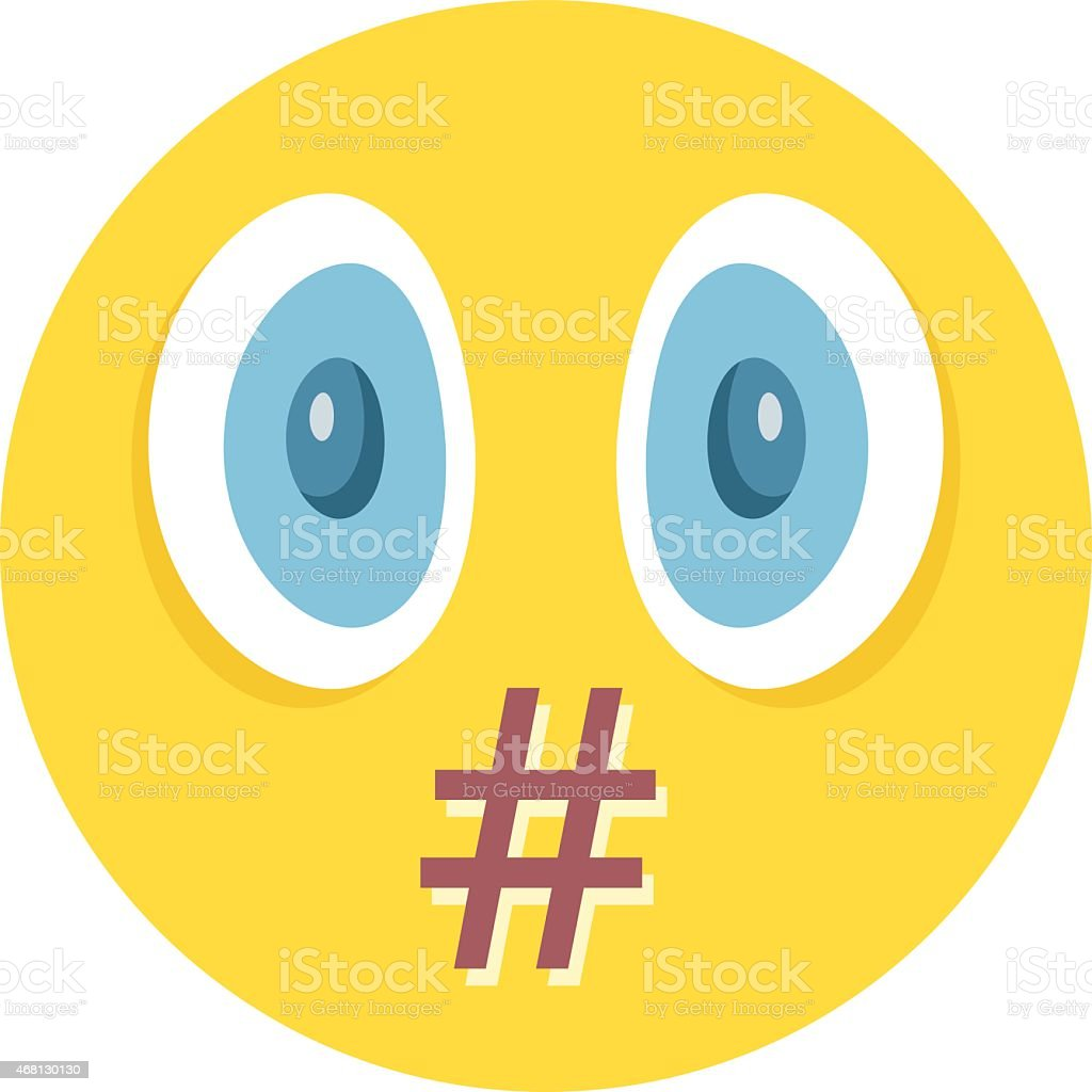 Vector smiley. Moderation, censorship or swear words concept vector art illustration