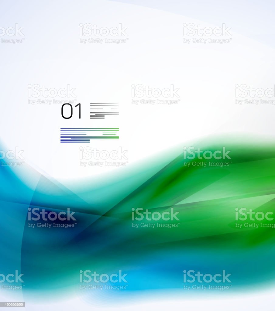 Vector smooth wave background royalty-free stock vector art