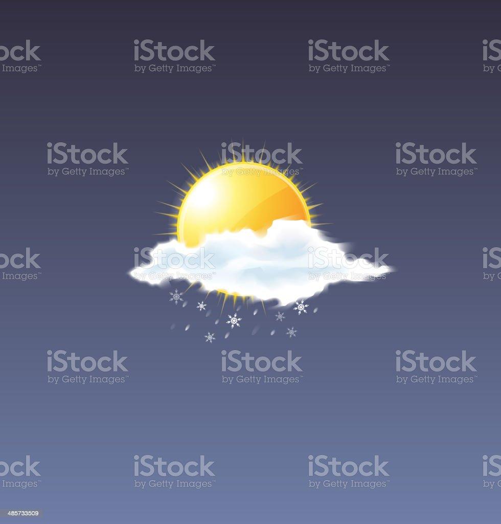 Vector Snow Icon vector art illustration