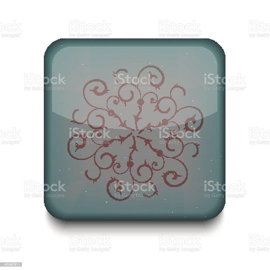 Vector Snowflake icon. Eps10. Easy to edit royalty-free stock vector art