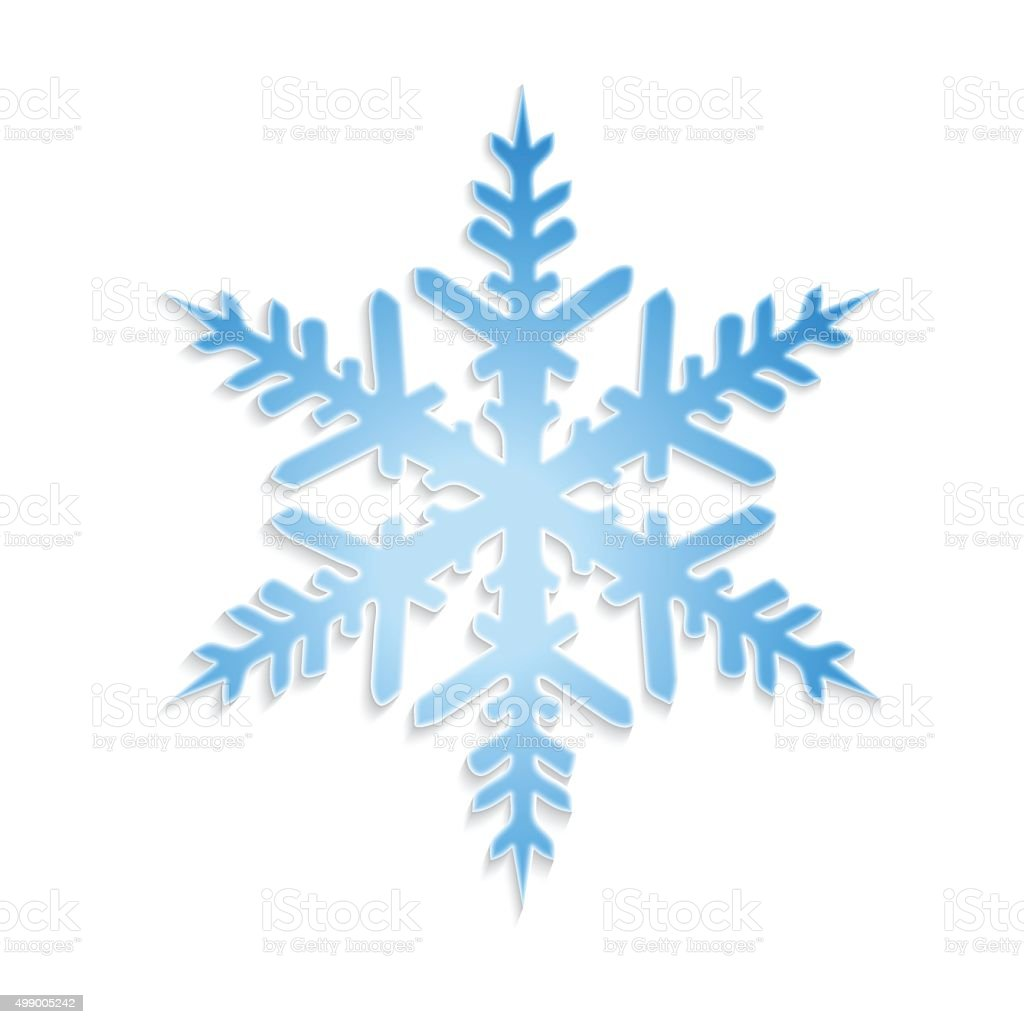 Vector snowflake vector art illustration