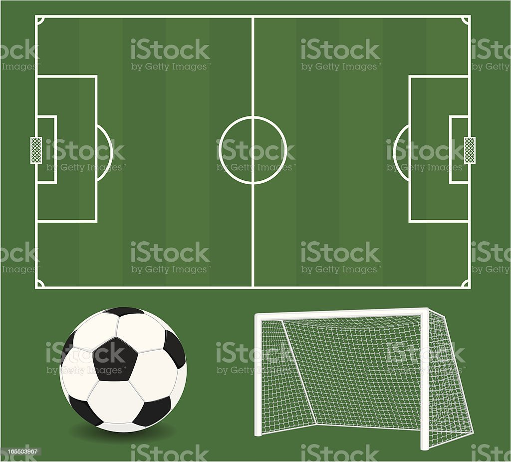 Vector Soccer Elements. Football. royalty-free stock vector art