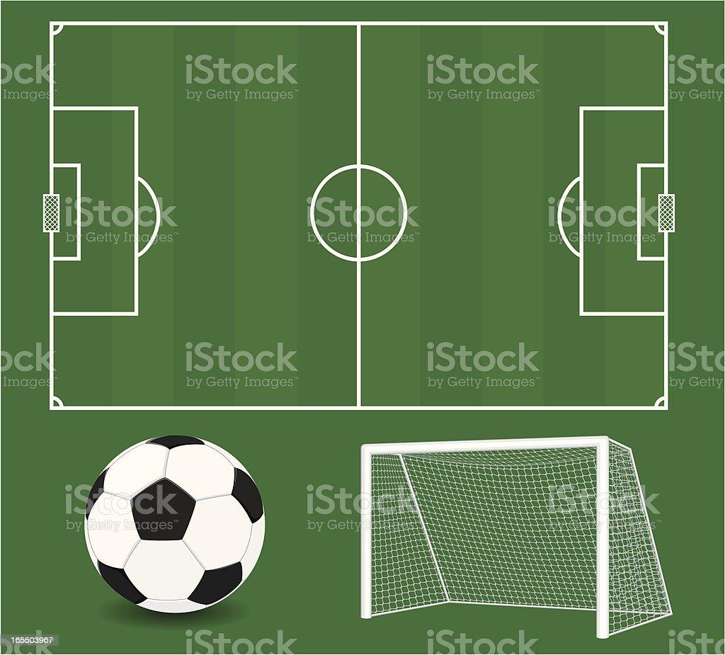 Vector Soccer Elements. Football. vector art illustration