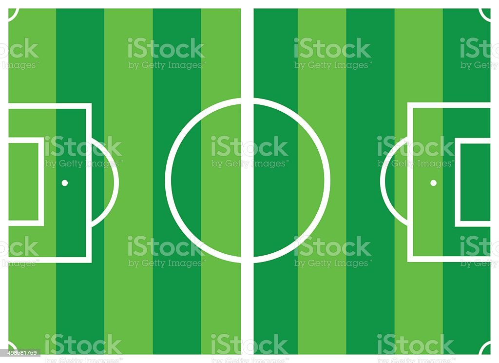 vector soccer field royalty-free stock vector art