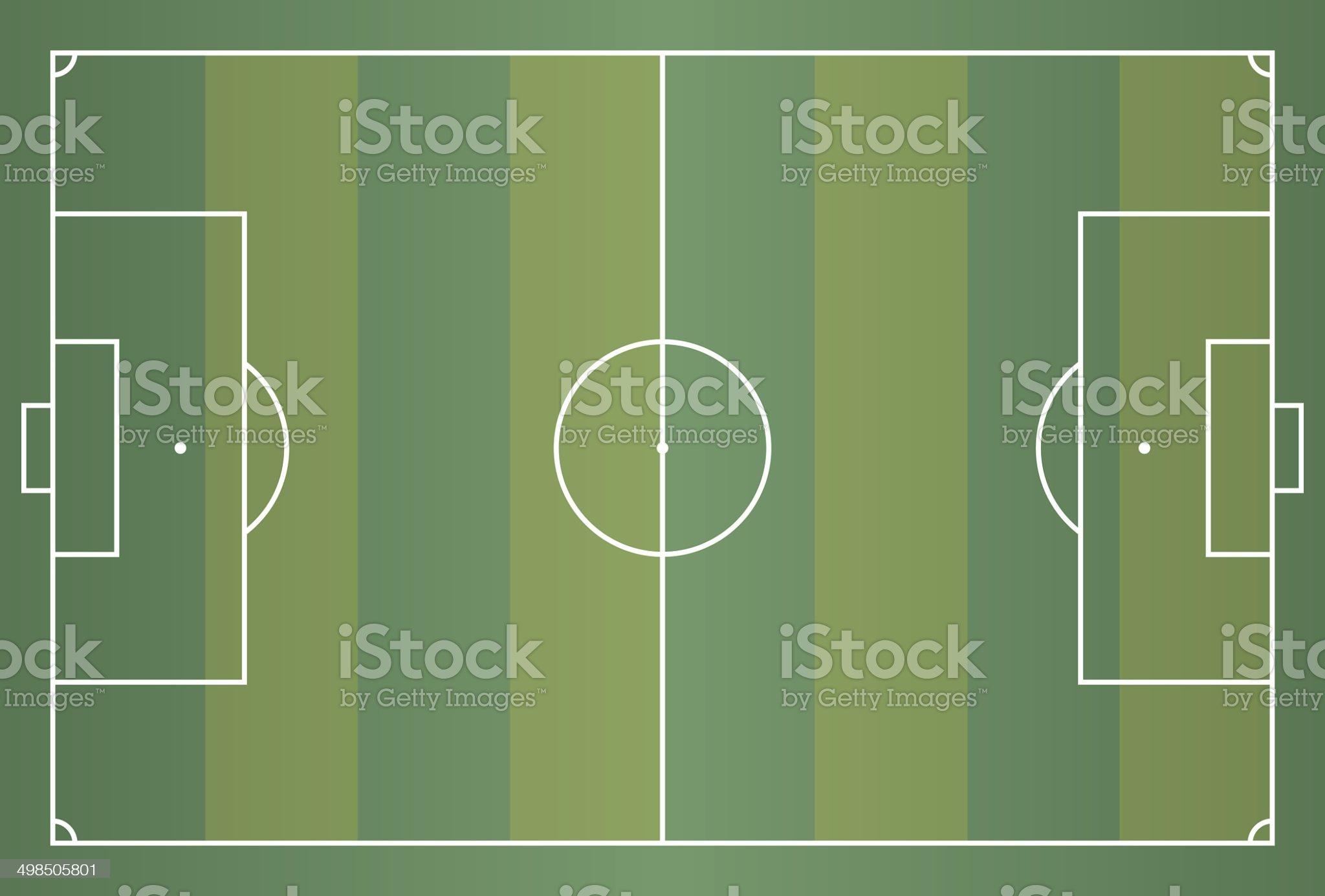 vector soccer or football field royalty-free stock vector art