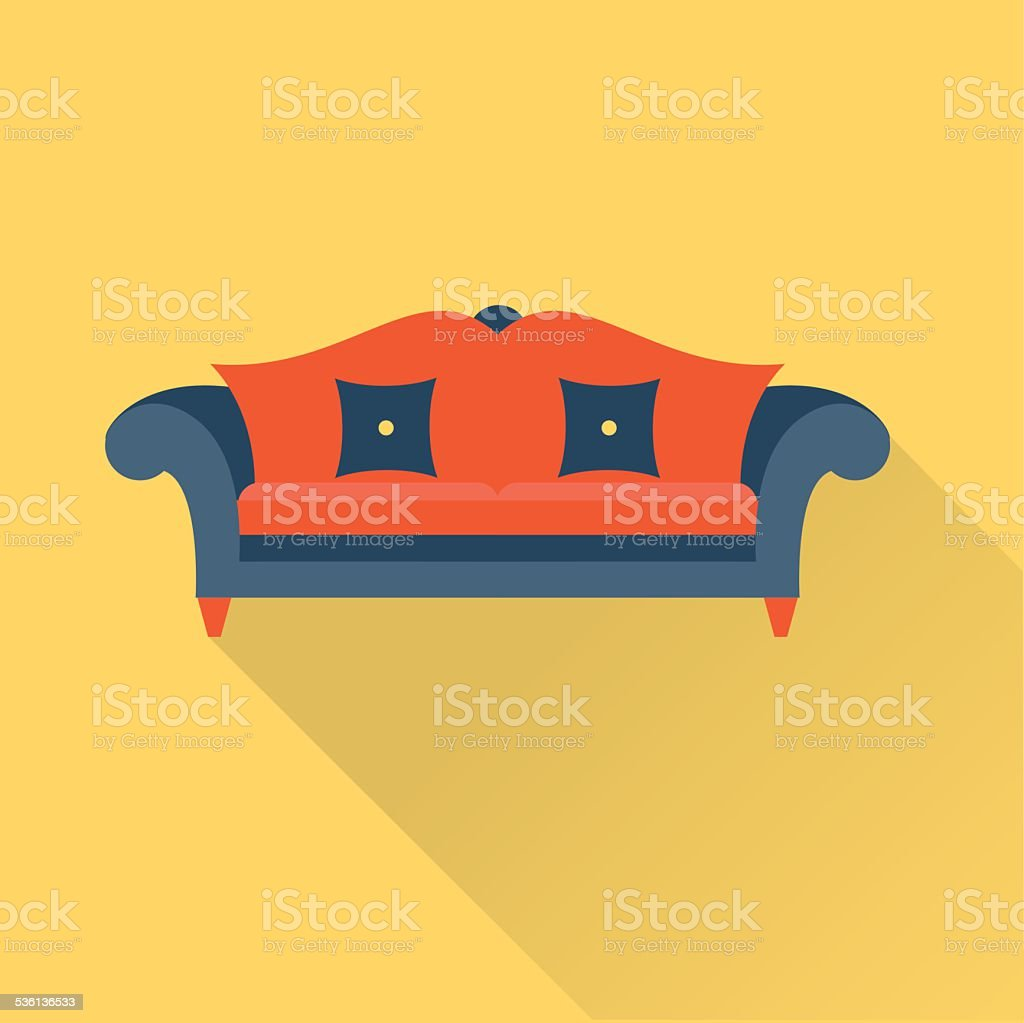 Vector sofa icon vector art illustration