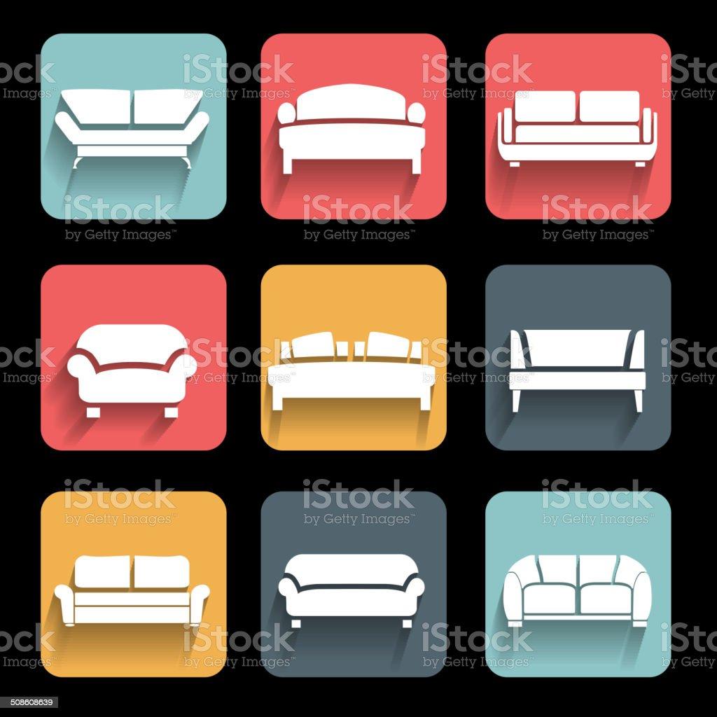 Vector sofa vector art illustration