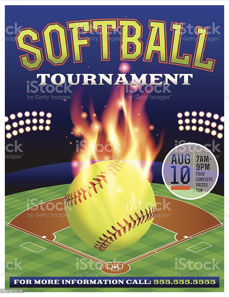 Vector Softball Tournament Illustration royalty-free stock vector art