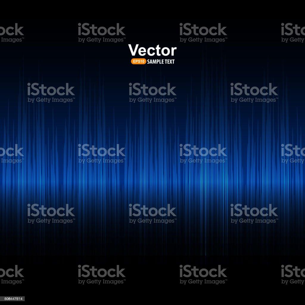 Vector sound blue equalizer vector art illustration