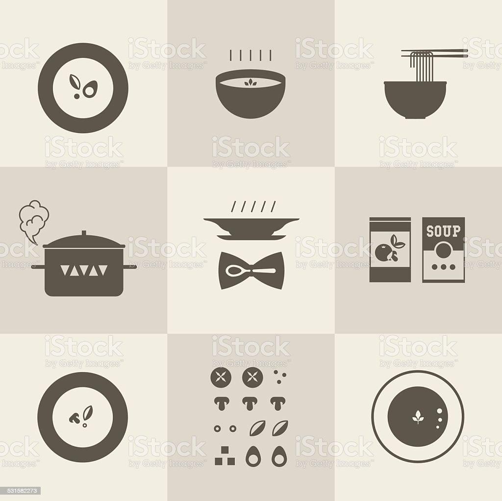 Vector soup icon vector art illustration