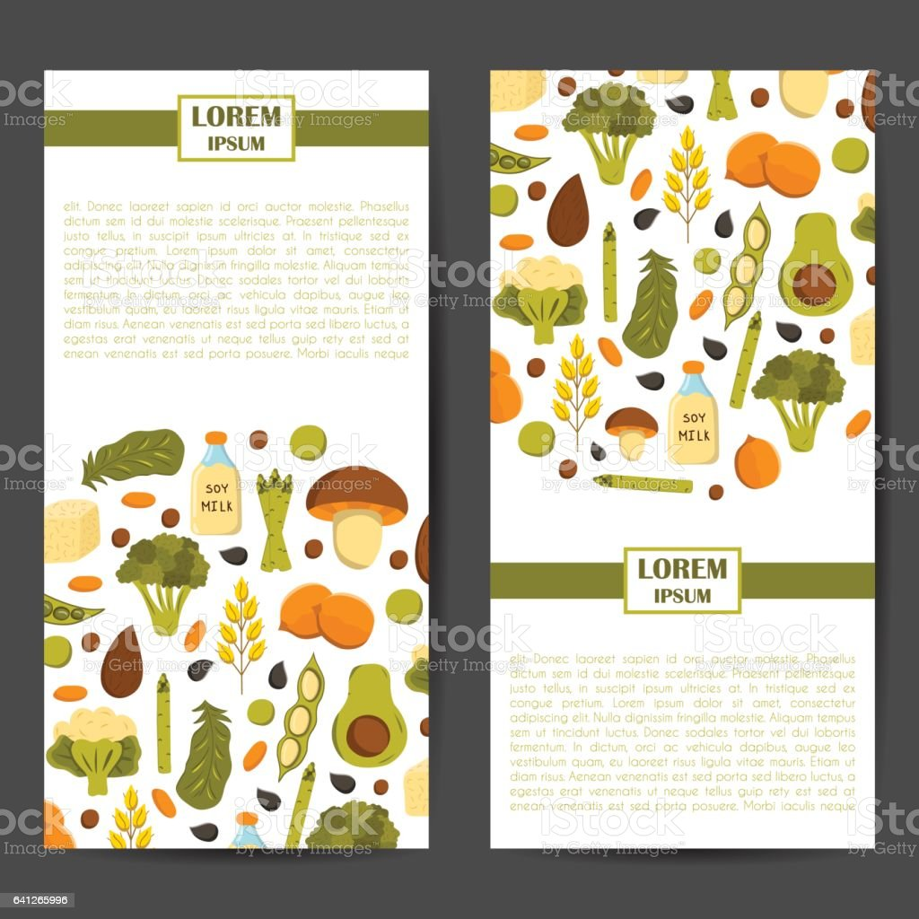 Vector source vegan protein background vector art illustration