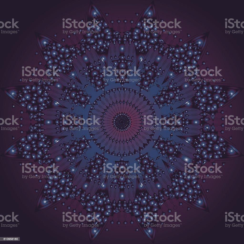 Vector Space Mandala Sign vector art illustration