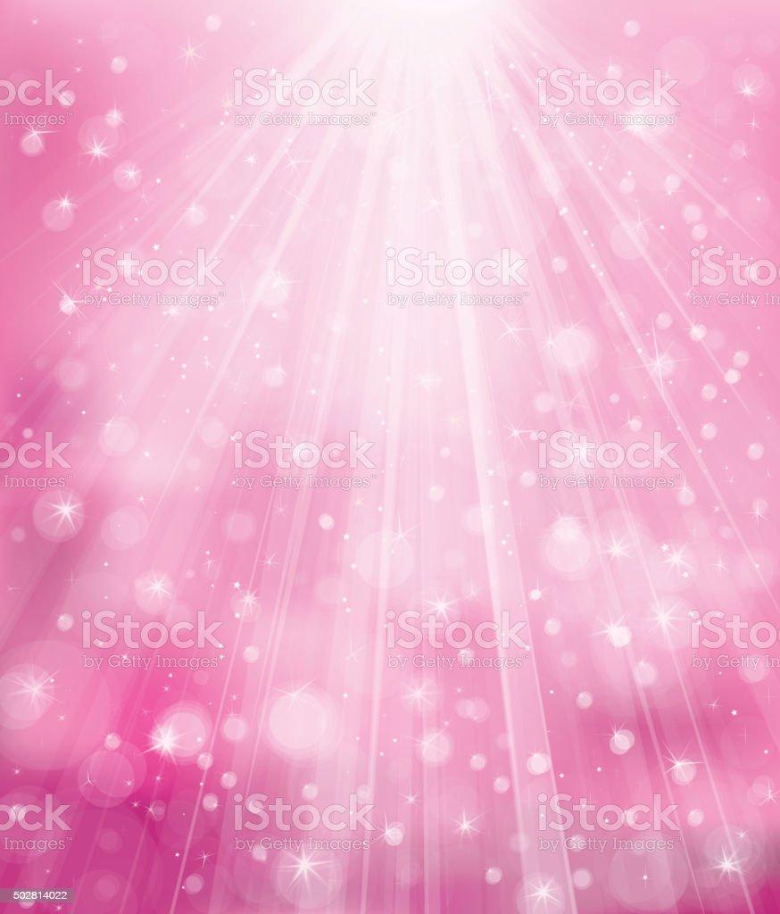 Vector sparkle pink background. vector art illustration