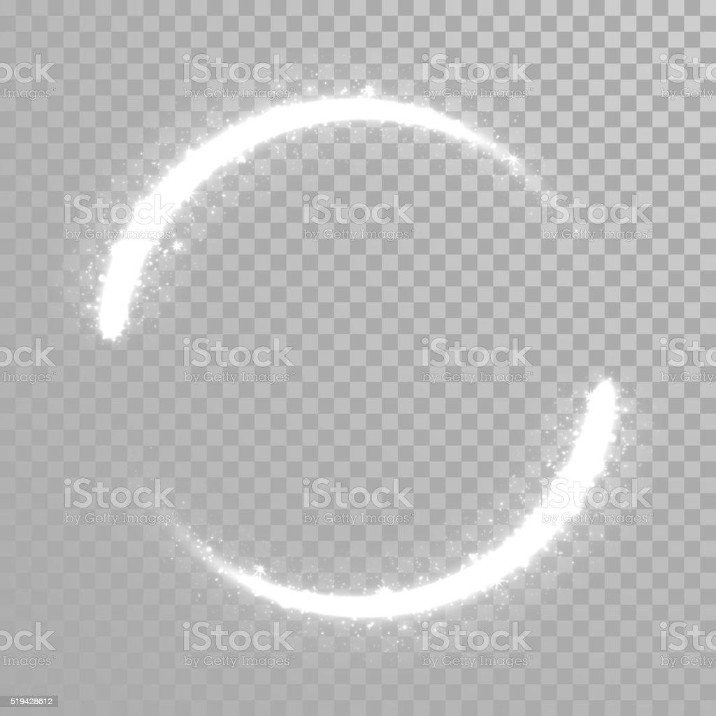 Vector sparkling light tail wave vector art illustration