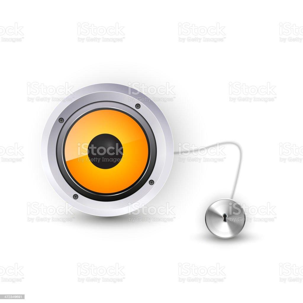 Vector  speaker royalty-free stock vector art