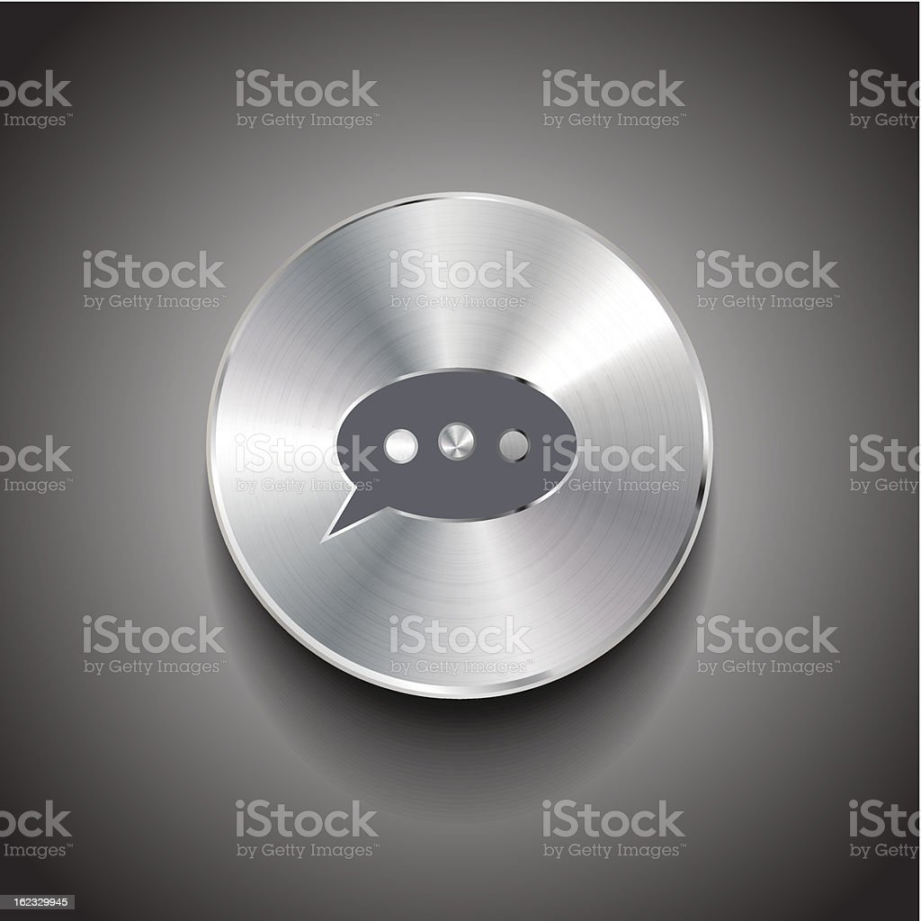 Vector speech bubble button royalty-free stock vector art
