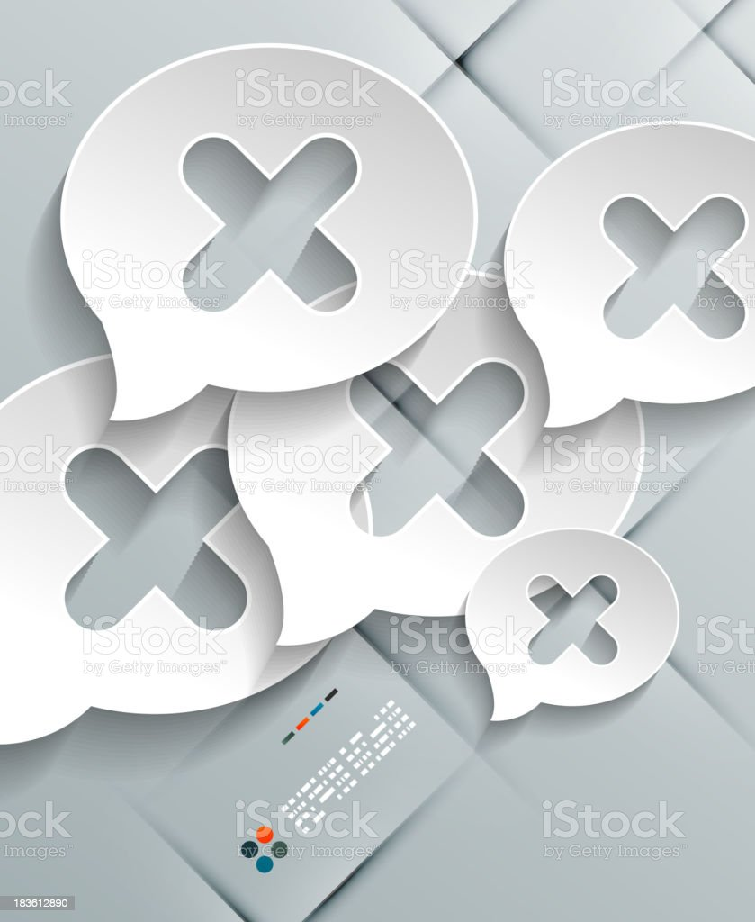 Vector speech bubble paper background royalty-free stock vector art