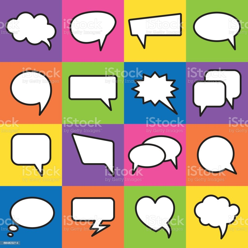 Vector speech bubbles in flat design vector art illustration