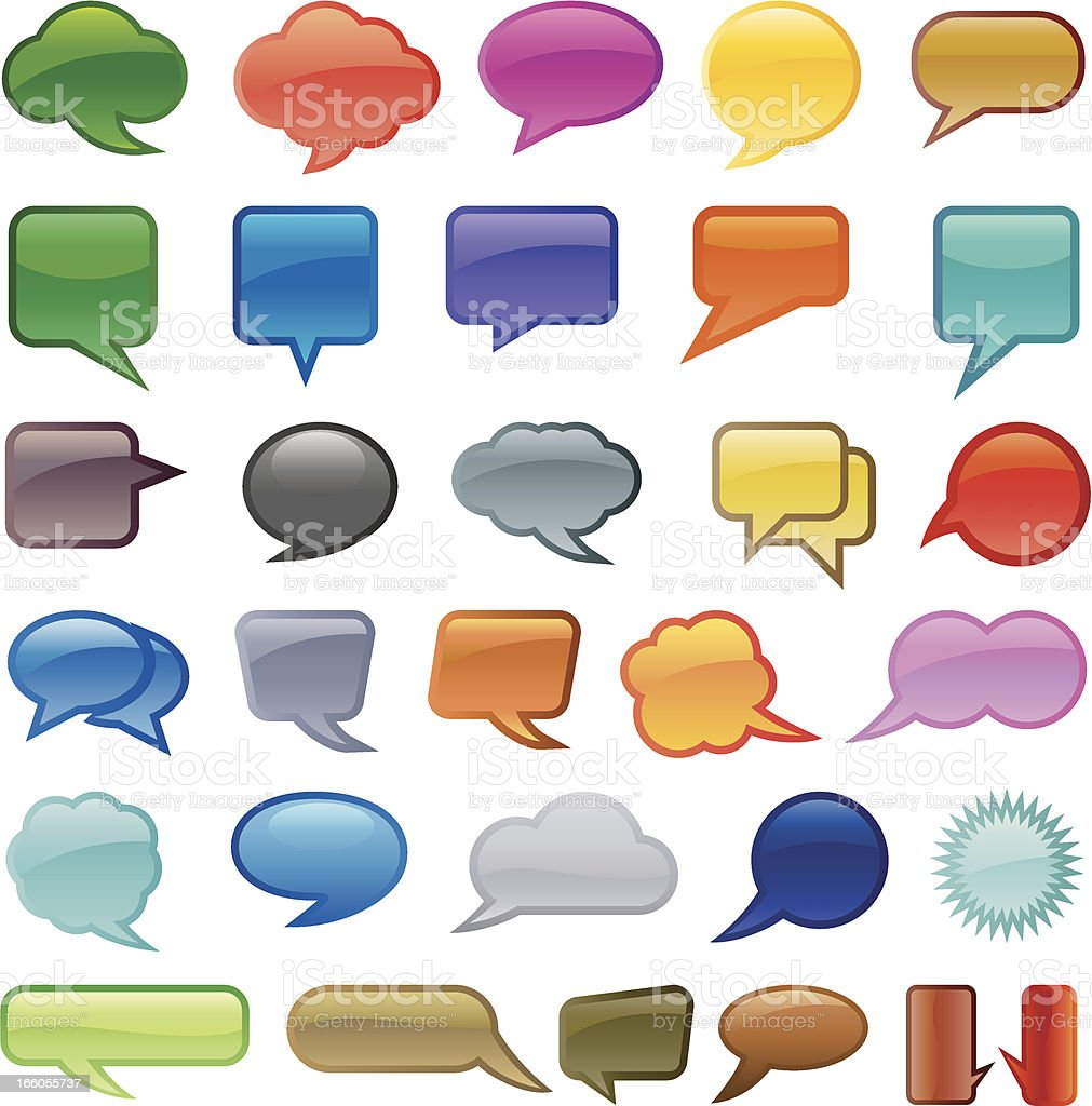 Vector speech bubbles set vector art illustration