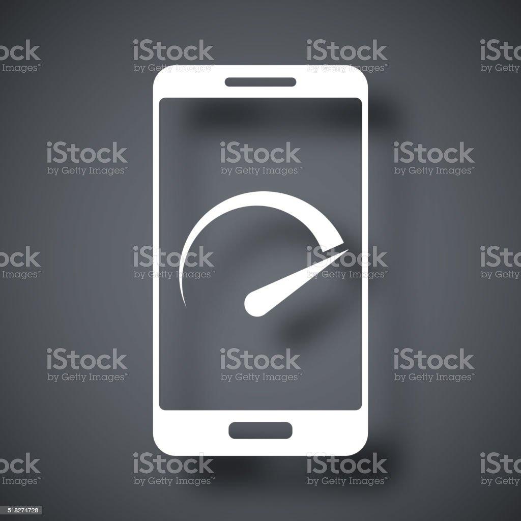 Vector speed test smartphone icon vector art illustration