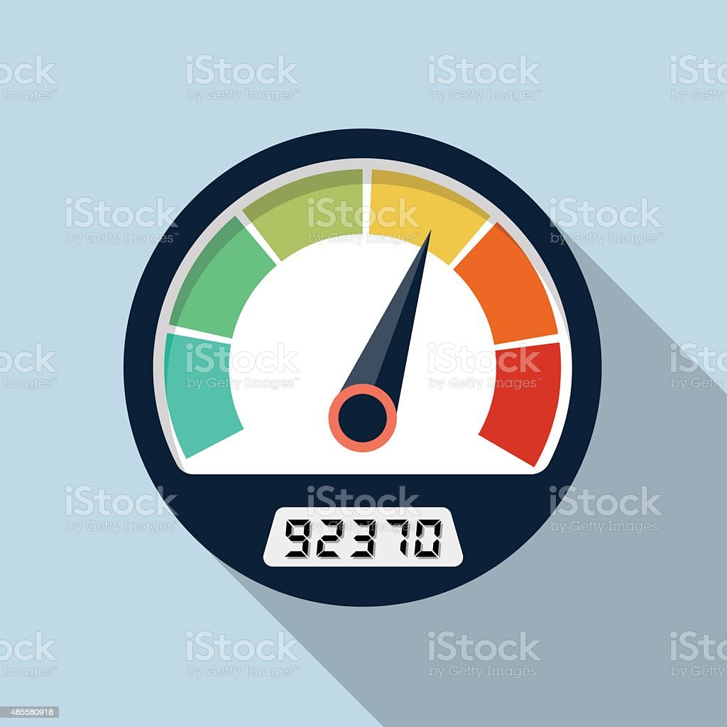 Vector speedometer icon vector art illustration
