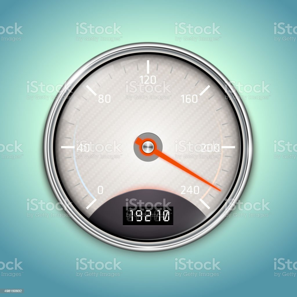 Vector Speedometer Icon vector art illustration
