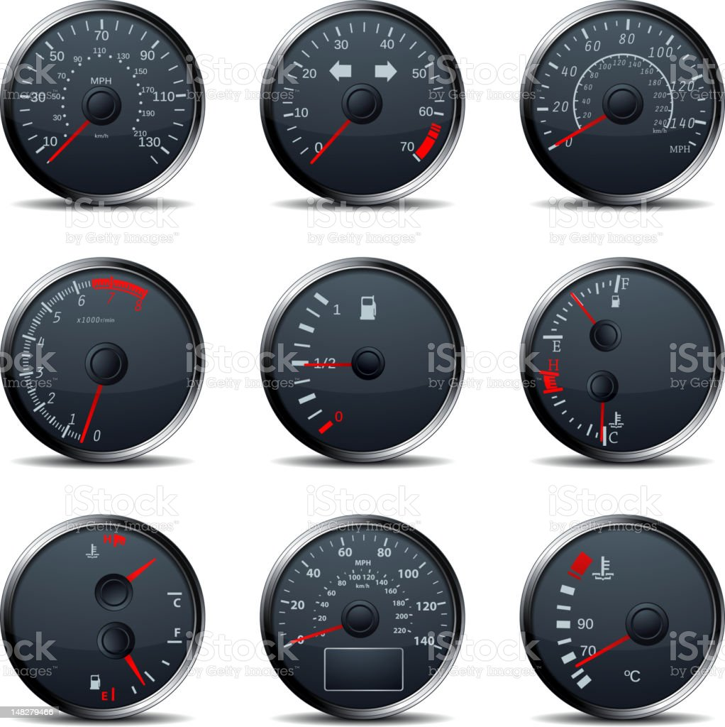Vector speedometers royalty-free stock vector art