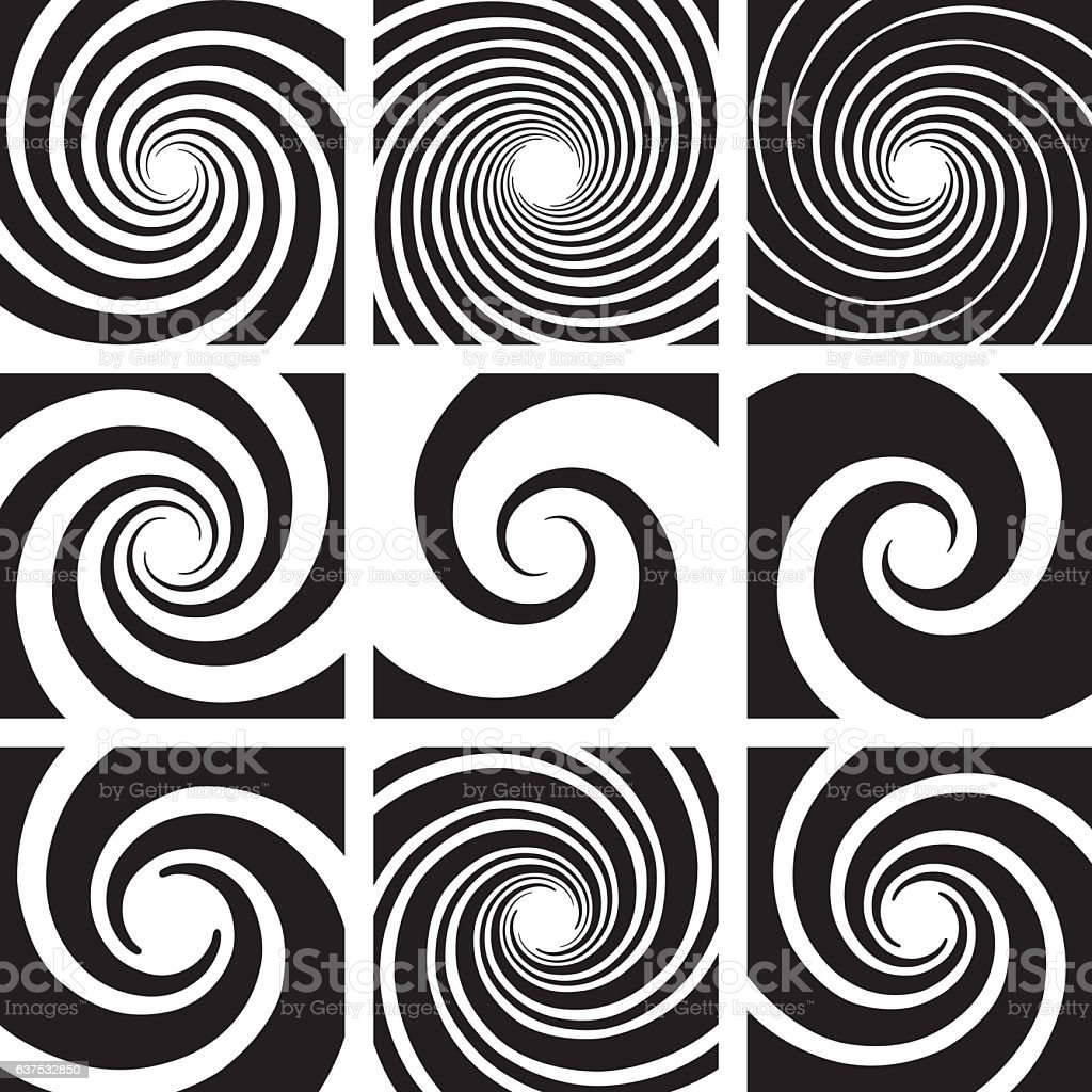 Vector Spiral and Swirl Collection vector art illustration