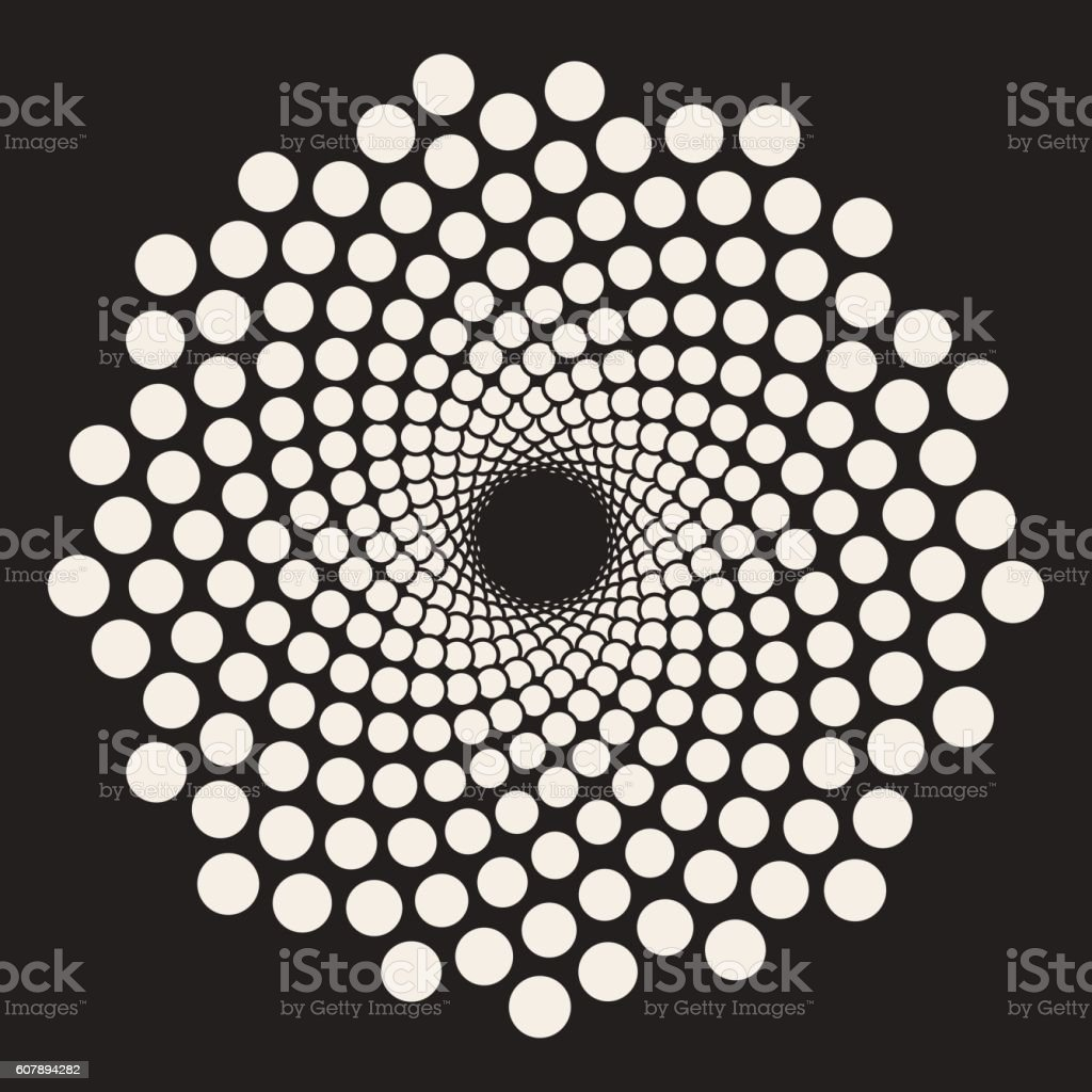 Vector Spiral Circles Swirl Abstract Design vector art illustration