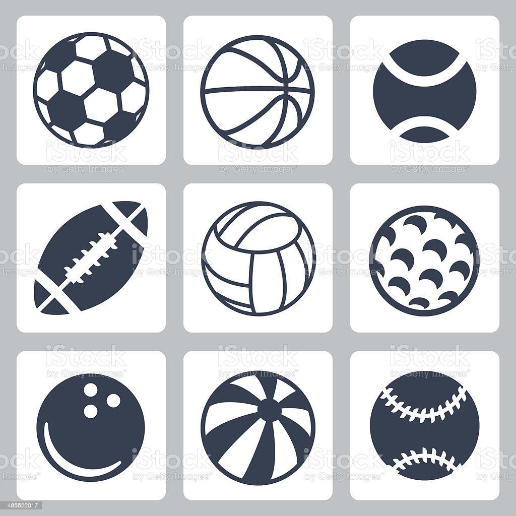 Vector sport balls icons set royalty-free stock vector art