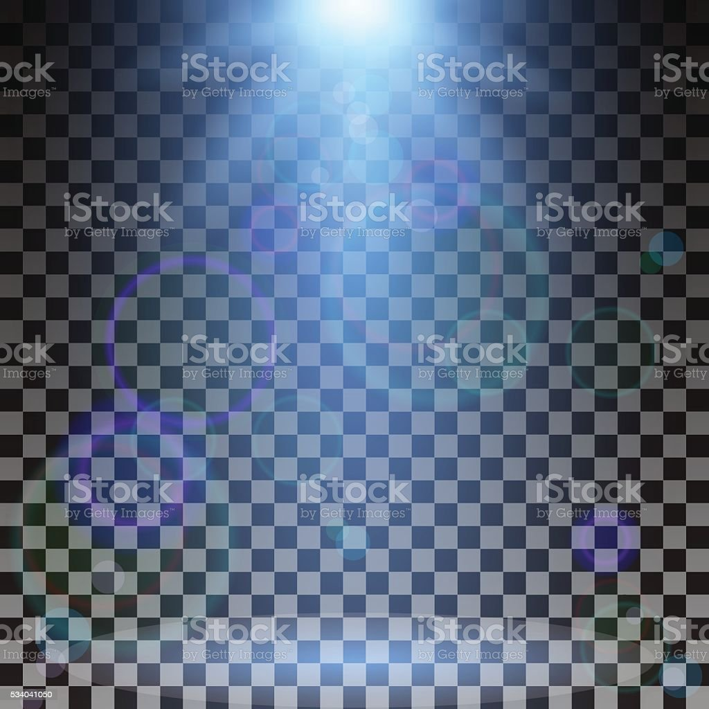 Vector spotlight. Light effect vector art illustration
