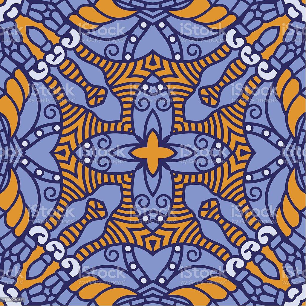 Vector square decorative design element vector art illustration