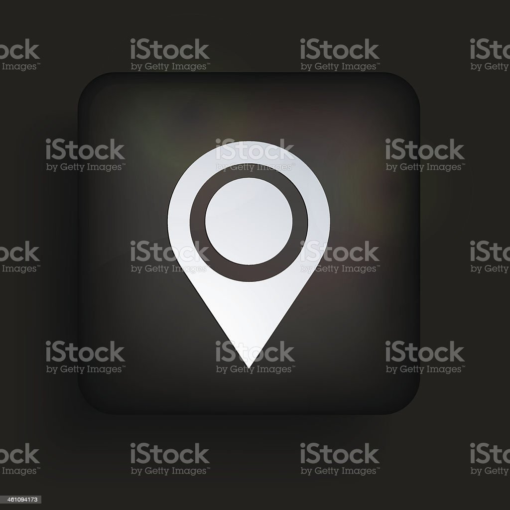 Vector square icon on black background. Eps10 royalty-free stock vector art