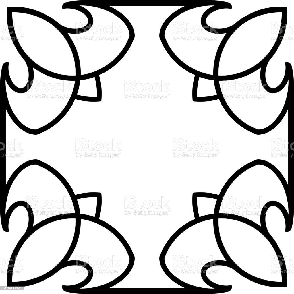 Vector square tile border frame royalty-free stock vector art