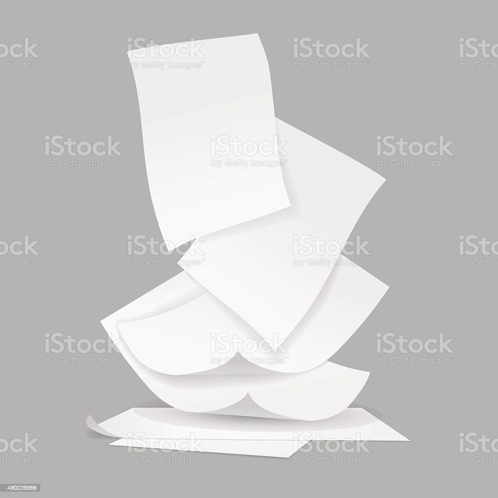 vector stack of papers vector art illustration