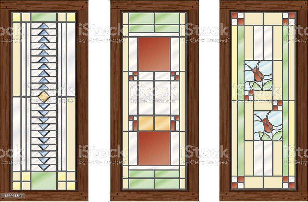 Vector Stained Glass WIndows vector art illustration