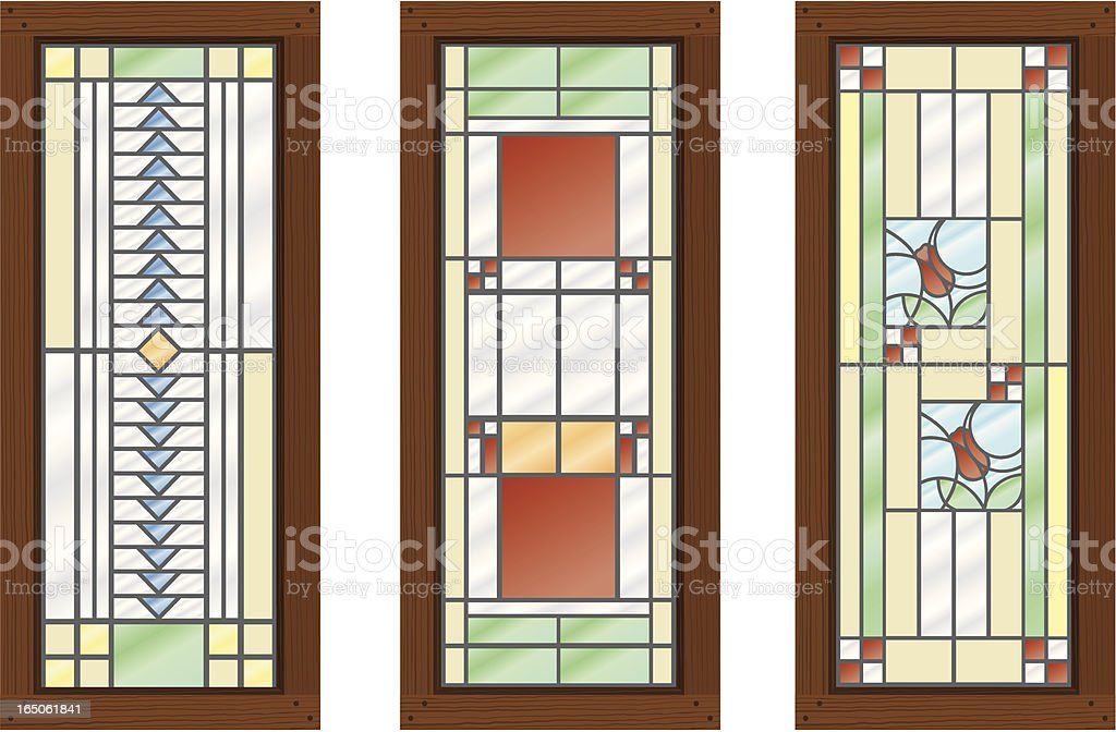 Vector Stained Glass WIndows vector art illustration