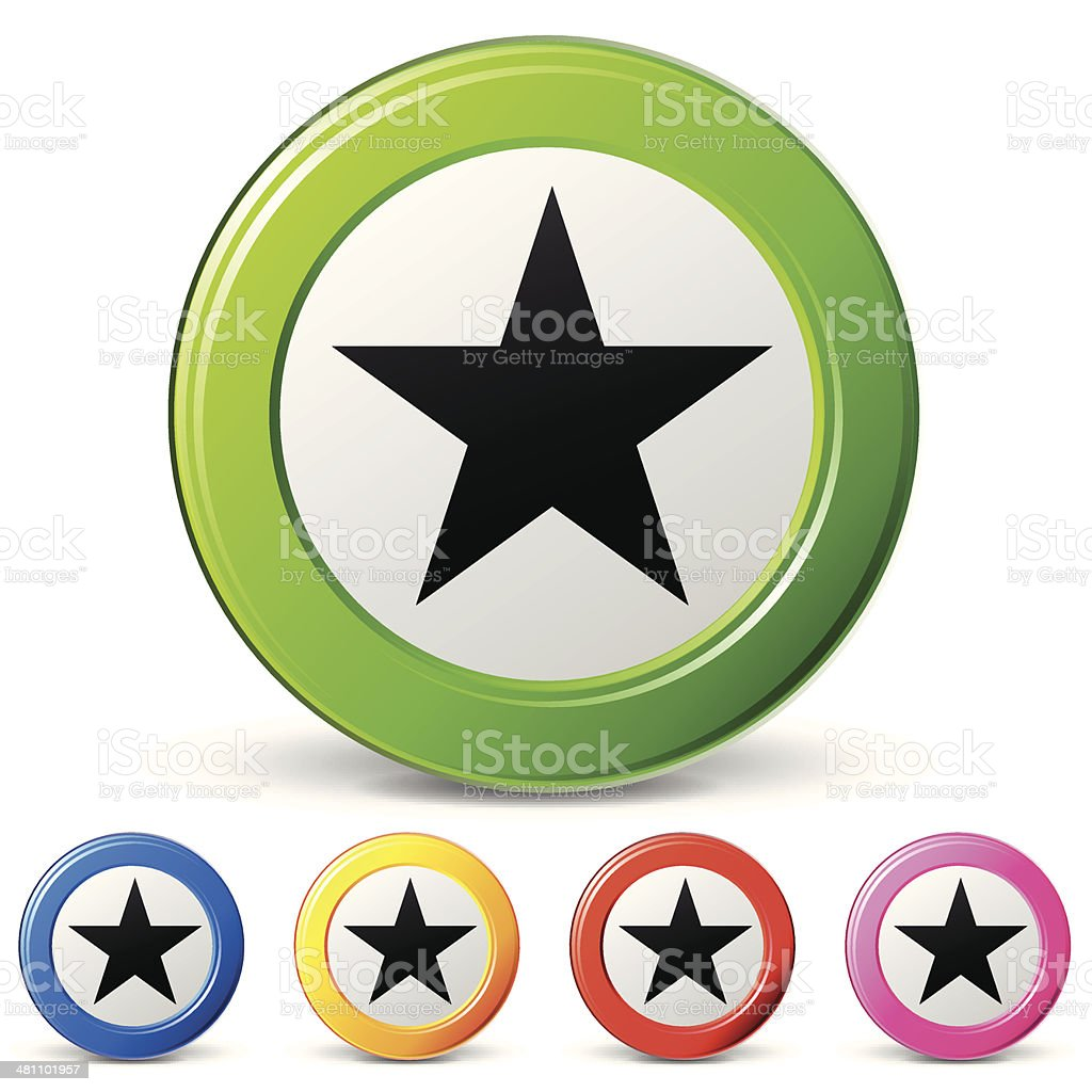 Vector star icons royalty-free stock vector art
