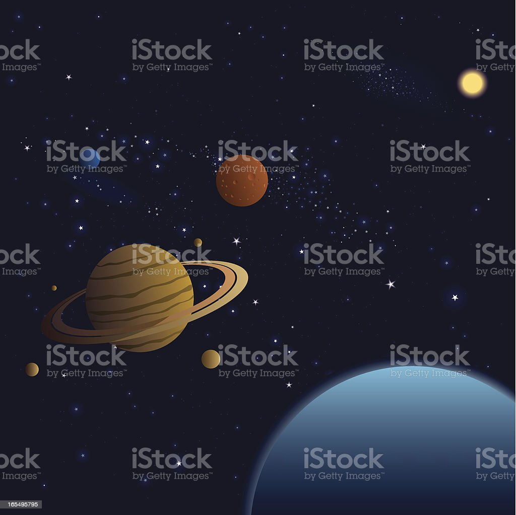 Vector Stars and Planets royalty-free stock vector art
