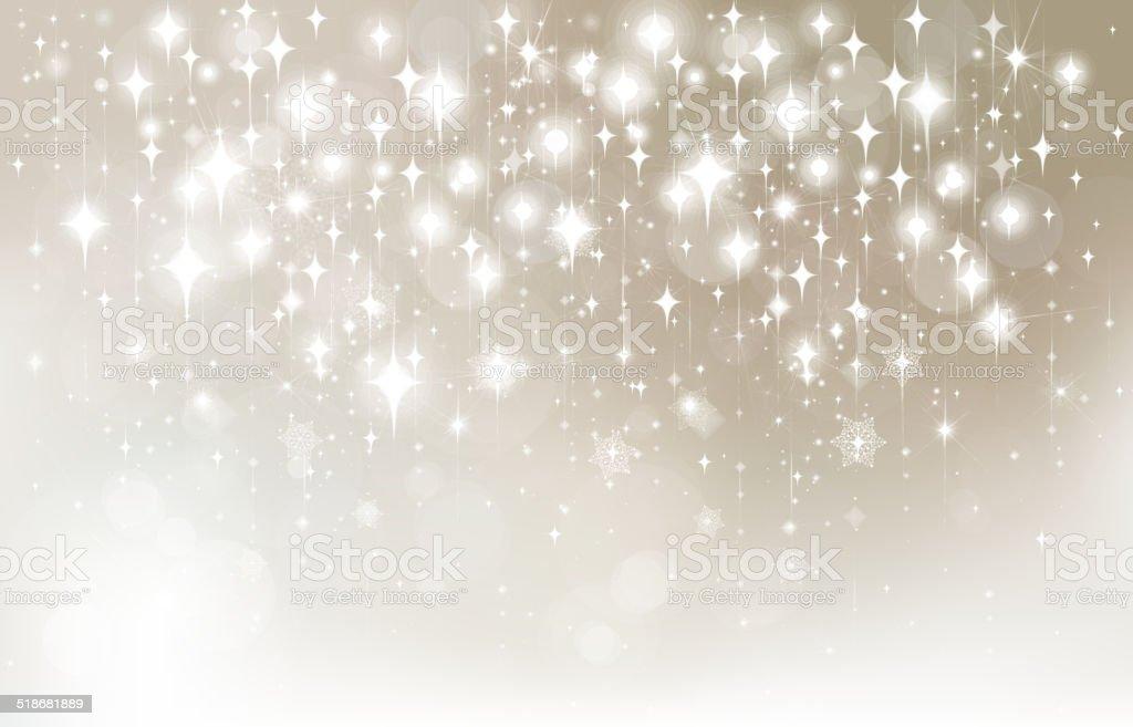 Vector stars  bokeh background. vector art illustration