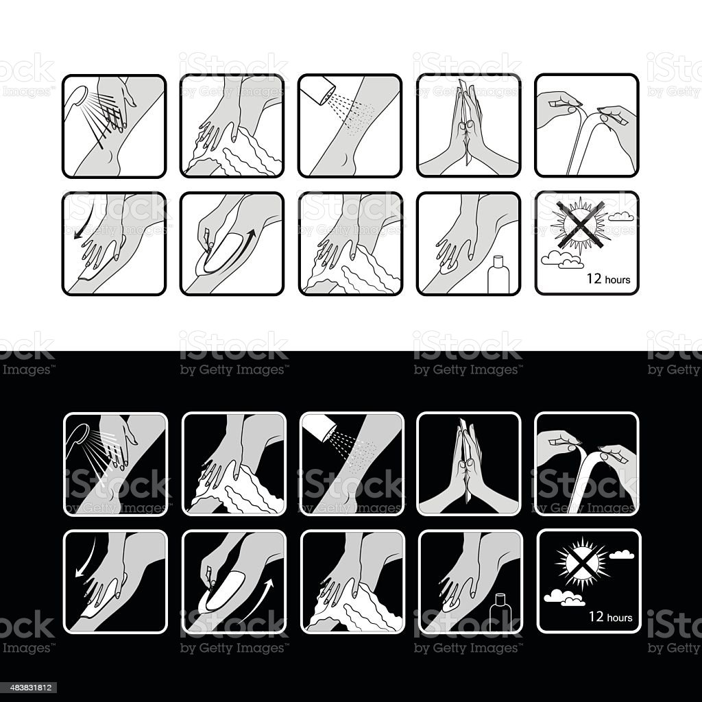 Vector Step by Step Instruction How To Do Depilation vector art illustration