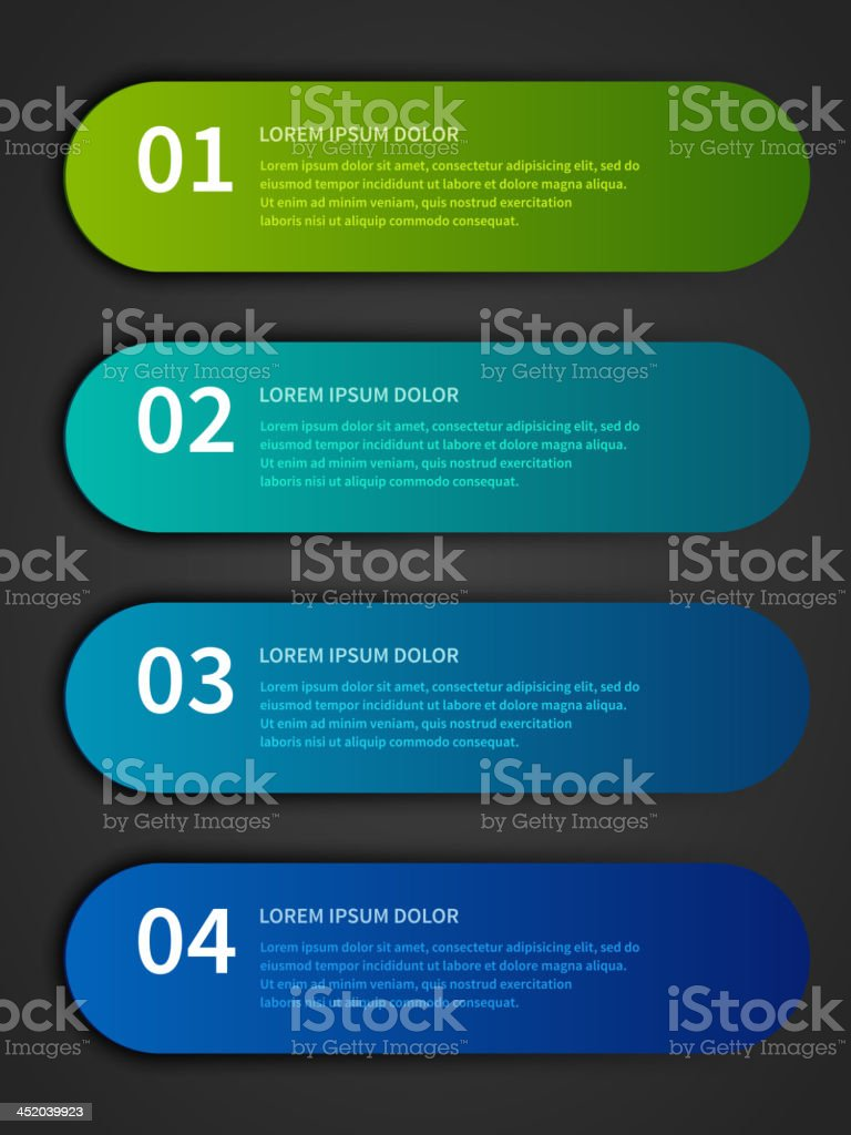 Vector step lines and numbers design template royalty-free stock vector art