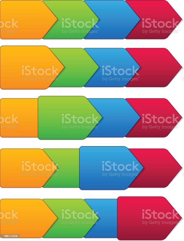 Vector step templates. royalty-free stock vector art