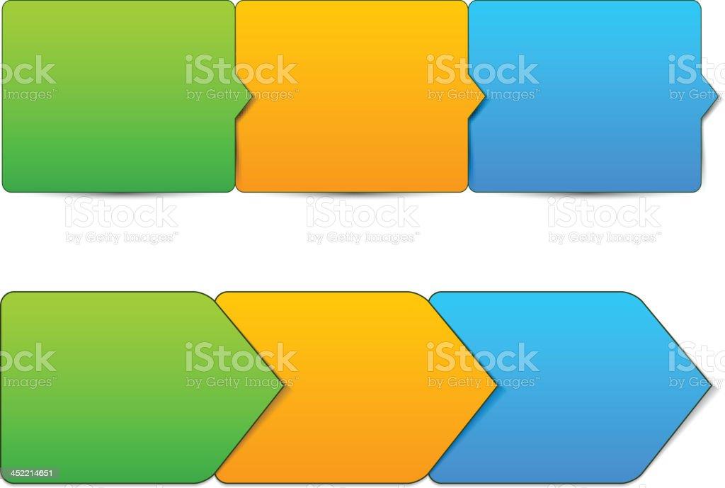 Vector step templates. vector art illustration