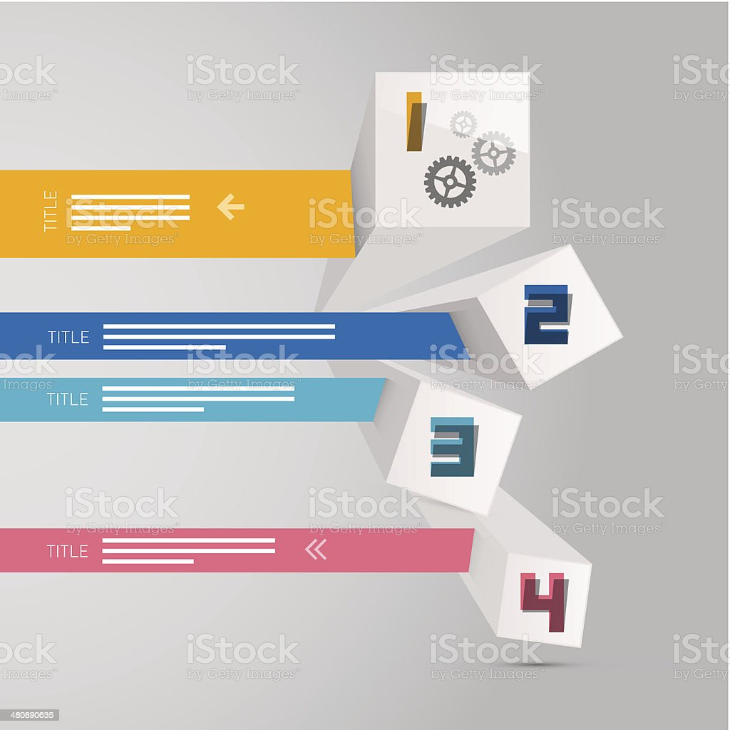 Vector Steps for Tutorial, Infographics Template royalty-free stock vector art