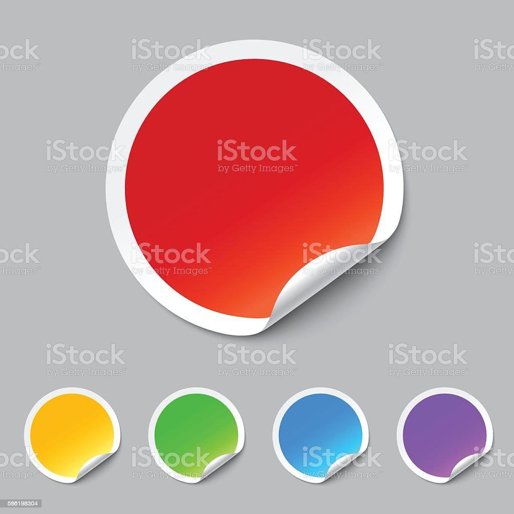 vector stickers set vector art illustration